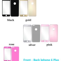 Titanium Alloy Full Colour Tempered Glass Front+back Iphone 6 Plus