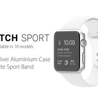 Apple Watch 42mm White Alumunium Case Sport band