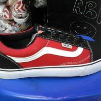 sepatu vans oldscool murah warna merah hitam + box