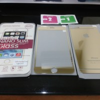 Iphone 6+ Plus 5.5' Tempered Glass Warna Silver Gold Hitam Ungu Orange