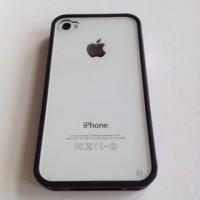 harga Iphone 4 4s Acrylic Bumper Jelly Soft Case Casing Cover Black Hitam Tokopedia.com