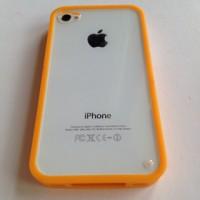 harga Iphone 4 4s Acrylic Bumper Jelly Soft Case Casing Cover Orange Pumpkin Tokopedia.com