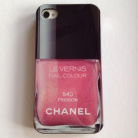 IPHONE 4 4S CHANEL KUTEK LE VERNIS JELLY SOFT CASE CASING BABY PINK