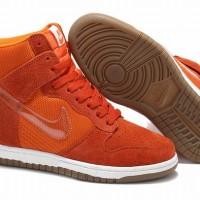 Sneakers Wedges Nike Sky High Dunk Orange