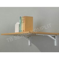 Rak Siku Lipat 12 inch Folding Shelf Bracket Tembok Lipat Rak Lipat
