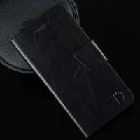 Flip Leather Case merek FOOT untuk Polytron Prime 5 W9500