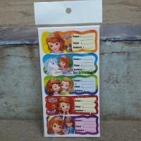 Stiker Label Nama Sofia The First - Stationery Fancy