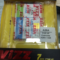 Baterai VIZZ double power EVERCOSS A28A A28 2300mAh