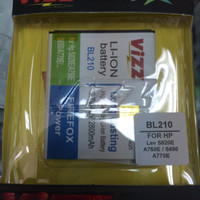 baterai vizz double power lenovo BL210 2800mAh S650 S820E A750E