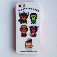IPHONE 5 5S BATHING APE MARVEL JELLY SOFT CASE CASING COVER