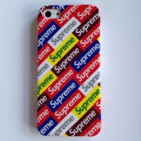 harga Iphone 5 5s Supreme Rainbow Label Hard Case Casing Cover Tokopedia.com