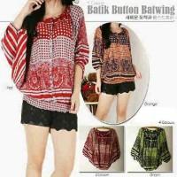 3807 Blouse/ Atasan Fashion Wanita Batik Batwing Katun Size Fit To Xxl