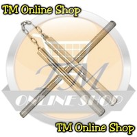 Double Stick Nunchaku Bruce Lee + Tongkat Baton Sambung Stainless Steel / Besi Baja