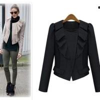 Jaket musim dingin winter hitam wool wanita import jacket black woman
