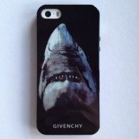 SHARK GIVENCHY IPHONE 5 5S JELLY SOFT CASE CASING COVER BLACK BEST