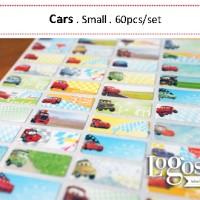 Cars Sticker. Name Label Small. Stiker nama anak lucu, karakter Cars Disney, untuk buku, tas, sekolah, hadiah