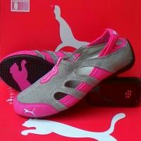 Jual Sepatu Puma Wanita / Flat Puma Balerina Abu/Pink Murah