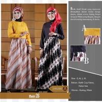 Jual Larasati Gamis Batik, Baju pesta batik,Baju kerja batik,Hijab modern Murah