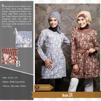 harga Larasati Tunic Batik,baju Pesta Batik,baju Kerja Batik,hijab Tunic Tokopedia.com
