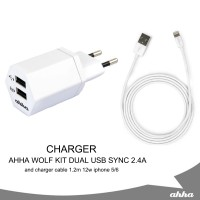 Charge AHHA Wolf Kit Dual USB Sync & Charge Cable