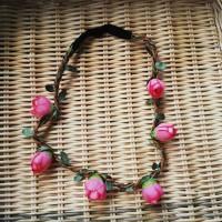 Jual Bandana bayi baby headband jepit rambut bando anak bunga pink 0117 Murah