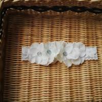 Jual Bandana bayi baby headband jepit rambut bando anak bunga putih 0132 Murah