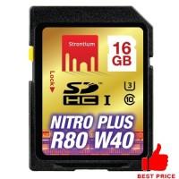 Strontium Nitro Plus 4K SDHC UHS-1 U3 Class 10 16GB - SRP16GSDU1 - Bla