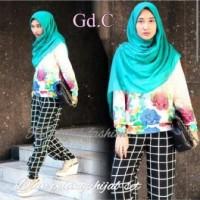 Gamis Wanita / Baju Muslim / Dress Gaun Pesta Dian Strip G-133