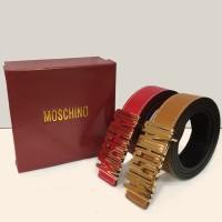 Ikat Pinggang Kulit Moschino MC-16 / Gesper Branded Moschino