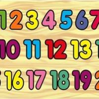 Mainan Edukatif / Edukasi Anak - Balok Kayu Puzzle Sticker Angka 1-20