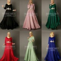 gamis Audrina by queenalabels  (Dress + pasmina)