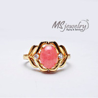 harga Cincin Batu Rose Quartz Cewek/Wanita Xuping Tokopedia.com