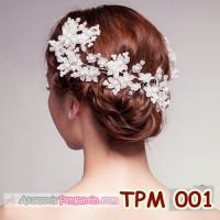 Jual Aksesoris Sanggul pesta l Tiara Rambut Pengantin Wedding - TPM 001 Murah