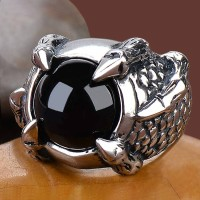 harga Luxuriouz Titanium Claw Black Onyx Ring / Cincin Titanium Tokopedia.com