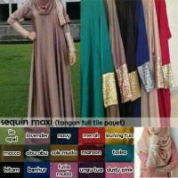 Jual Jersey squen | gamis muslimah-baju pesta-squin-sequin-baju muslimah Murah