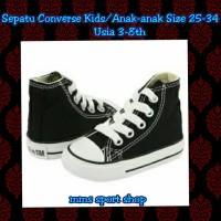 SEPATU CONVERSE KIDS/ANAK-ANAK WARNA HITAM MODEL TINGGI