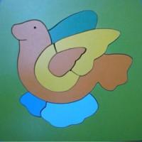 harga mainan edukatif kayu puzzle burung merpati hewan Tokopedia.com