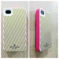Kate Spade Case for iPhone 4 / 4S (Gold Strip)
