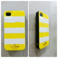 Kate Spade Case for iPhone 4 / 4S (Yellow Strip)