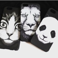 Black and White Animal Printed Hard Case For iPhone 4/4s, 5/5s & 6