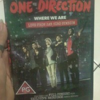 "DVD ONE DIRECTION "" WHERE WE ARE LIVE SAN SIRO STADIUM """