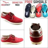 Sepatu Kulit Casual Redknot Demeter Merah