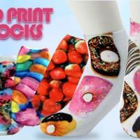 2 Pairs 3D Print Socks