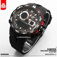 Jam Tangan Pria Casio G-Shock Protrek PRW-6000 Black Red / Black White