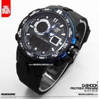 Jam Tangan Pria Casio G-Shock Protrek PRW-6000 Black Blue/ Black
