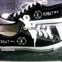 Sepatu Canvas Kpop EXO PLANET #2 The EXO luXion Logo