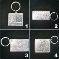 Harga gantungan kunci bahan aluminium logo merk outdoor adventure | antitipu.com