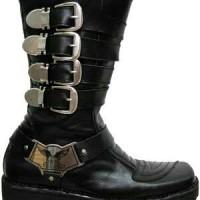 Sepatu Touring Harley Gesper Kulit Asli / Nabato Shoes