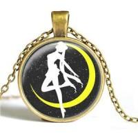 harga Kalung Sailor Moon Sailormoon Black Yellow Moon Gold Tokopedia.com