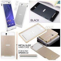Sony Xperia C3 D2533 - Metal Slide Hard Case